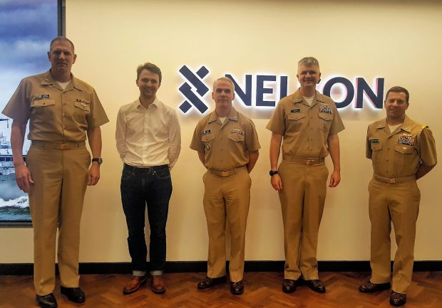 We had great pleasure in hosting Vice Admiral Kohler, US Deputy Chief of Naval Operations for Information Warfare (IW) & Dir of Naval Intelligence, in October 2019. Left to Right: Vice Admiral Kohler, NELSON Dir David Tagg-Oram with the US team.