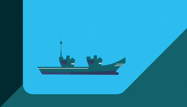 A graphic of a ship