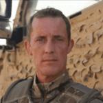 A portrait of Brigadier Stefan Crossfield in uniform
