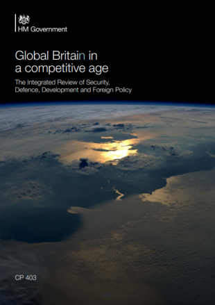 The cover of the Integrated Review publication
